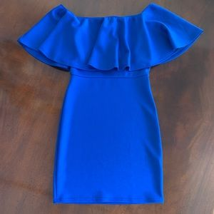 Body-Con Pop Over Dress On or Off Shoulder!